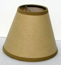 KRAFT PAPER LAMP SHADE natural craft supply 4x5x2.5 clip on chandelier shade
