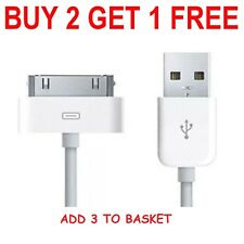 Original Para Cargar Datos Cable de Cargador Apple iPhone 4 4s 3gs iPod iPad 2