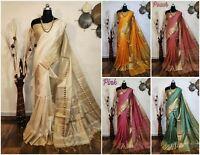 Saree Indian Sari Bollywood Designer Wear Silk weaving Pakistani Wedding FancyIS