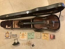 Old HOPF Violin Full-Size 4/4 Alfred Knoll Bow, Case & More Antique Vintage