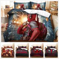 3D Customized Deadpool Duvet Cover Bedding Set Pillowcase Comforter/Quilt Cover