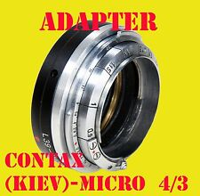 Kiev Rangefinder Contax Nikon RF inner outer adapter to micro 4/3,with Jupiter-8