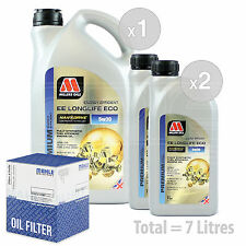 Engine Oil and Filter Service Kit 7 LITRES Millers NANODRIVE EE 5w-30 7L
