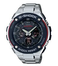 Casio G-Shock G-STEEL * GSTS100D-1A4 Solar Red Silver Steel Men Ivanandsophia