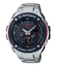 Casio G-Shock G-STEEL *GSTS100D-1A4 Solar Red Silver Steel Men Ivanandsophia