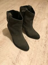 Tommy Hilfiger Charcoal Suede Ankle Boots - Size 4