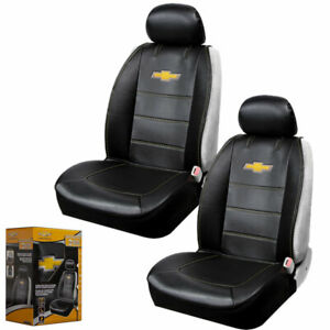 Lisha 2-Piece Printed Car Seat Headrest Cover for Chevrolet Black Breathable Flexible Headrest Covers Fit for Chevrolet Most Models