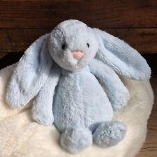 Jellycat Small Bashful Blue Bunny Rattle Ex.con