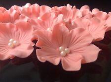 Zuckerdekor Zuckerblumen Hochzeit Muffins Geburtstag Taufe Tortendekoration rosa
