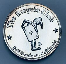 The Bicycle Club Bell Gardens California 1 oz .999 Silver Round