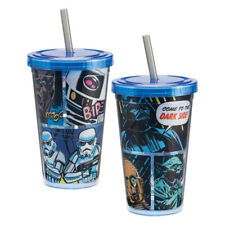 Star Wars Comics Panels 12 oz Acrylic Travel Cup with Straw New Unused