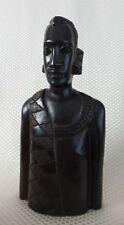 Incredible Vintage Hand Carved Man, Makonde People, Tanzania - Ebony/Blackwood