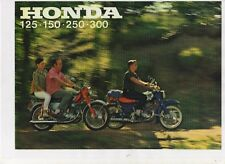 1962/1967 HONDA 125 . 150 . 250 . 300   6  Page Motorcycle Brochure NCS