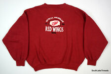 VTG Detroit Red Wings Embroidered Sweatshirt Crable Men's XL