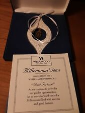 """Wedgwood Millennium Gems 1999 """"Good Fortune"""" Ornament, In Box, Never Used"""