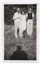 PHOTO Pochette en cuir Appareil Photographié Caméra Étui Groupe 1930 Ombre du