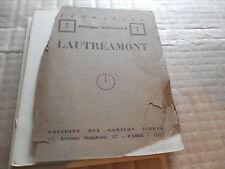 PHILIPPE SOUPAULT éditions des cahiers libres  LAUTREAMONT  1927