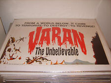 VARAN THE UNBELIEVABLE 1962 AUTHENTIC 27x41 TOP 3 SHT MOVIE POSTER (505)