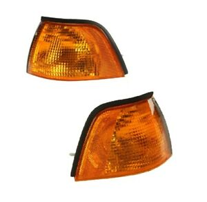 🔥TYC Pair Set of 2 Front Turn Signal Light with Yellow Lens for BMW E36 M3🔥