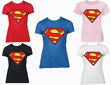 SUPERMAN  WOMEN'S T-SHIRTS JUNIORS SIZE