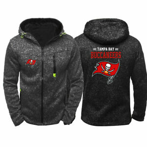 Tampa Bay Buccaneers Hoodies Hooded Zipper Sweatshirts Casual Jacket Fleece Coat