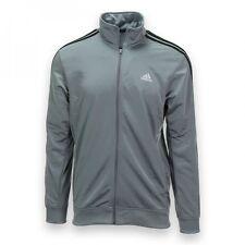 Adidas ESS TRK JKT Essential Track Jacket Grey/ Black Men's Size XL $50.00