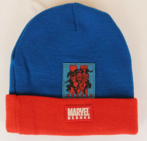Marvel Heroes Avengers Spider-man Fantastic Four Blue/Red Warm Winter Beanie Hat