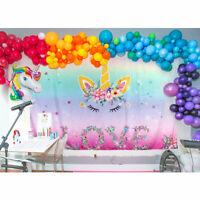 Unicorn Party Backdrop Magical Unicorn Kids Birthday Floral Unicorn Background