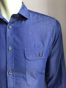 Charles Tyrwhitt Black Label Shirt, Cool Blue, M (15-1/2, 33), Tailored Fit, EUC