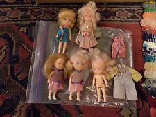 Vtg lot Wish World Kids 1988 Kenner Kpt Doll blonde Pink Brown Hair w clothes