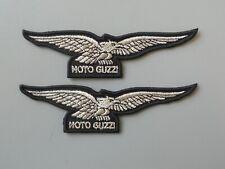PATCH MOTO GUZZI AQUILA ARGENTO N.2 RICAMATA TERMODESIVA CM 10X3-COD.403
