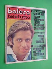 Bolero 1154 8 Juin 1969 Corrado Pani Festival Sanremo 70 Jane Fonda Bobby Solo