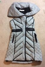Blanc Noir Womens Mesh Inset Tunic Vest, Heather Grey, Extra Small