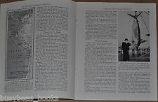1941 magazine article DEEPSEA FISHING off Chile Peru Marlin Giant Squid Humboldt