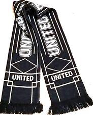 United Scarf Football Gifts black Grey scarf