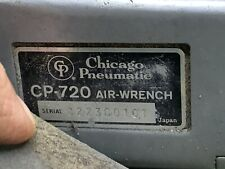 """CHICAGO PNEUMATIC 3/8"""" DRIVE BUTTERFLY AIR WRENCH #CP-720 Tested Works W Leather"""