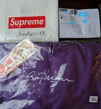 Supreme Logo Script Hoodie Purple XL.Unopened & with Stickers.