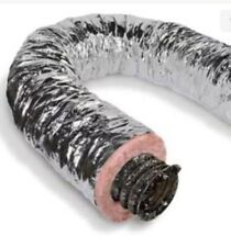 Insulated Flexible Duct 12 Inch X 25 Ft R8 Silver