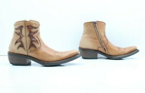 Bottes Marilungo Made IN Italy (Code ST2558) D'Occassion N.40 Bottine Artisanal