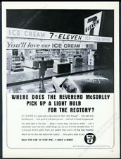 1966 7-11 7-Eleven convenience store night photo 711 vintage print ad