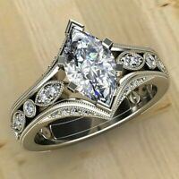 Gorgeous Women 925 Silver Rings White Sapphire Wedding Band Rings Size 6-10