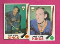 1969-70 OPC KINGS DALE ROLFE + BOB WALL   CARD (INV# C5946)