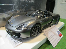 PORSCHE 918 SPYDER 2013 1/18 MINICHAMPS 110062430 voiture miniature d collection