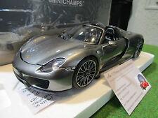 PORSCHE 918 SPYDER 2013 1/18 MINICHAMPS 110062430 voiture miniature d collection