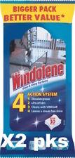 2 X Windolene Glass Cleaner Wipes, 30 Wipes [5644]