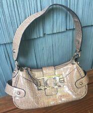Guess Gray Tan Faux Crocodile/Alligator Shoulder Bag Purse