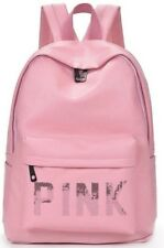 NEW Victoria's Secret Pink Campus Backpack Faux Leather Color Pink