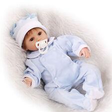 Nicery Reborn Baby Doll Soft Silicone 18in. 45cm Toy Boy Toy Blue Boy Girl