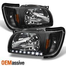 Fits 01-04 Toyota Tacoma Black Replacement LED 1PC Headlights Corner Signal Lamp