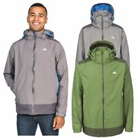 Trespass Judah Mens Waterproof Jacket Hiking Camping in Grey & Green